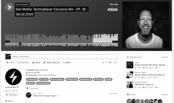 Techno Blazers Exclusive Mix Series Jan 2020 - Dan McKie
